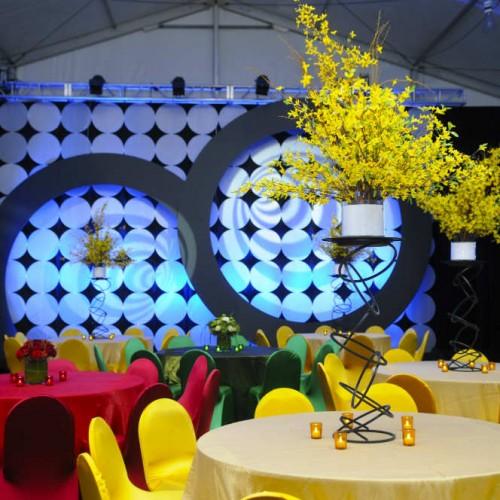 International tent event centerpiece decor