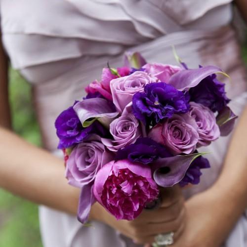 Wedding florist - bridesmaid bouqets