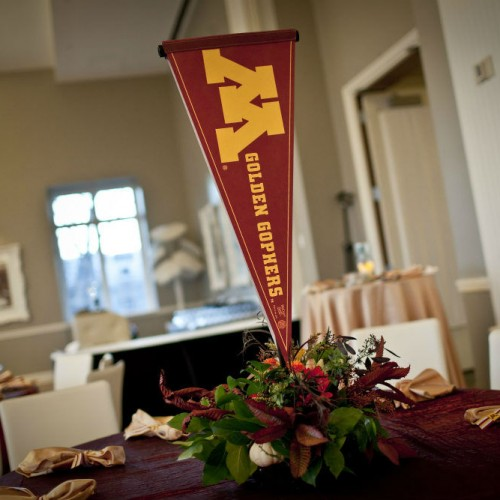 Gopher flag decor