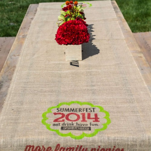 Table runner decor for summer picnic