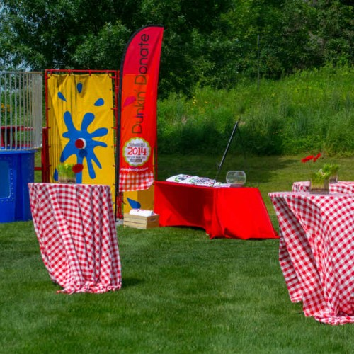 Summer picnic decor and games
