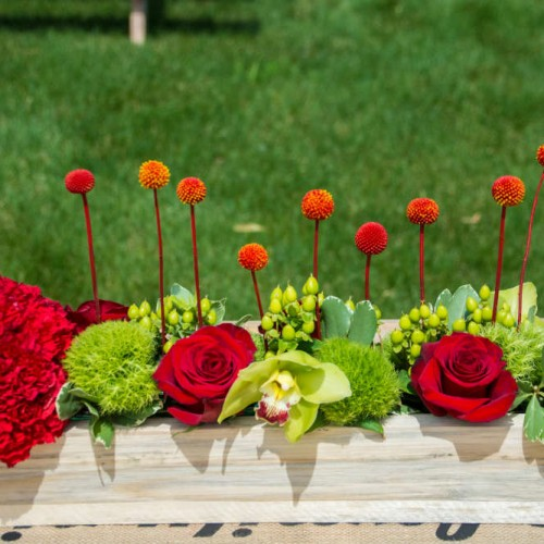 Picnic centerpiece decorations