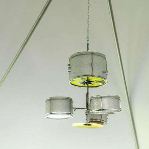 upsher musicfest drum set chandelier web