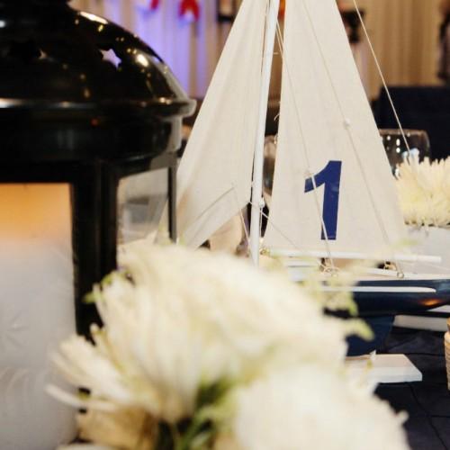 Allen Wedding Sailboat close