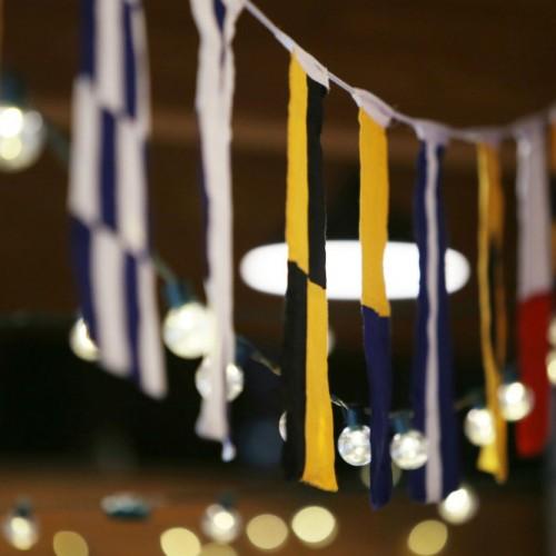 Allen Wedding flag banner