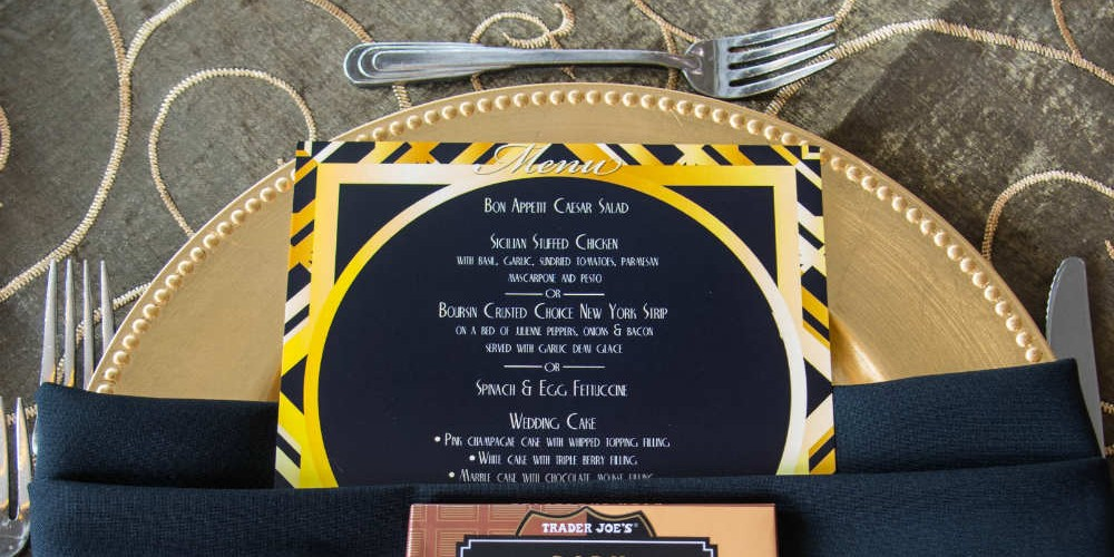 Casey Gatsby wedding charger