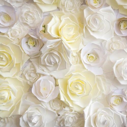 Casey Gatsby wedding floral wall detail