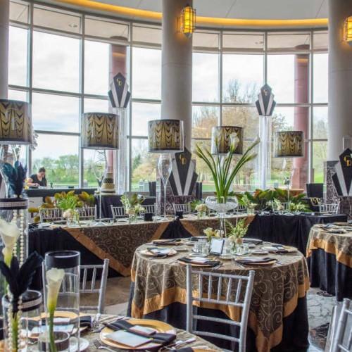 Casey Gatsby wedding head - guest tables