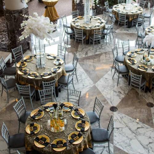 Casey Gatsby wedding side overhead room