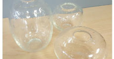 Seeded Bud Vases Glass 230 x 120