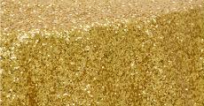 Sequin Gold 230 x 120
