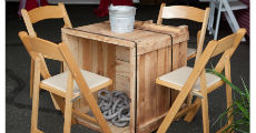 Crate Tables 230 x 120