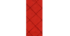 Pintuck Red 230 x 120