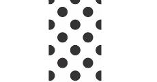 Polka Dot Black 230 x 120