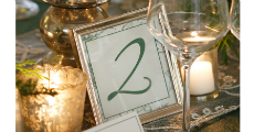 Table Nunber Silver Frame 230 x 120