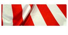 Stripe Red White 230 x 120