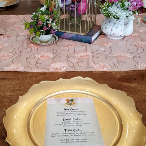 Katherine Hill Placesetting and Flowers