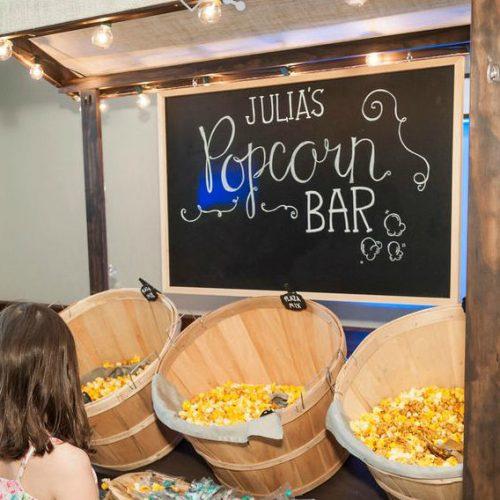 Kibort Mitzvah popcorn bar