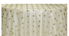 Ivory Circle Sequin 230 x 120