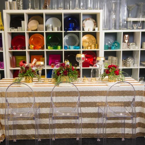 Showroom stripe table 500 x 500