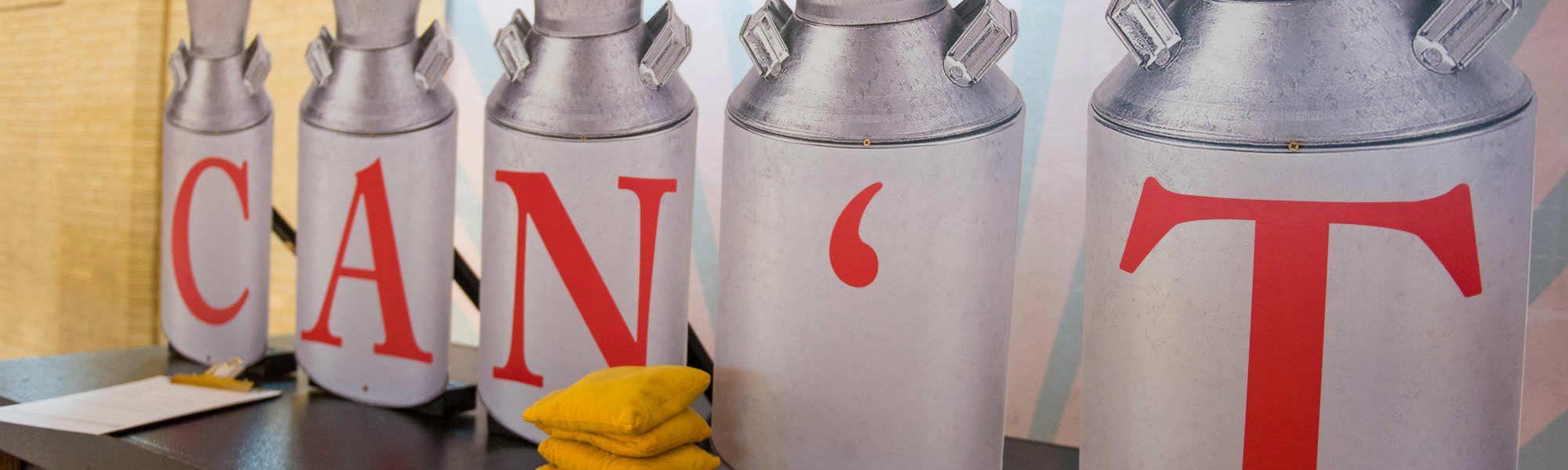 Gillette Milk Cans slider