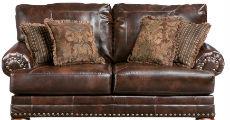BrownLoveseatNailheadTrim 230 x 120
