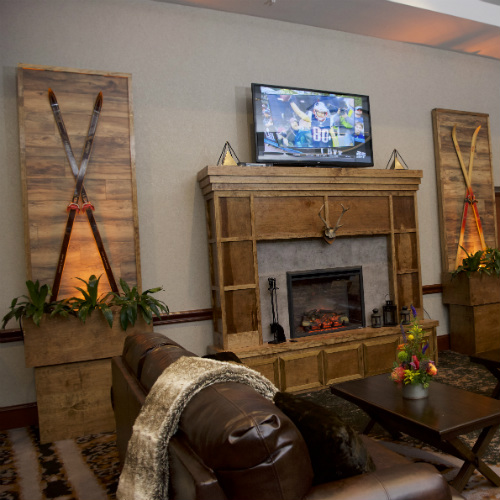 Events Forum Pepsi Lodge fireplace side 500 x 500