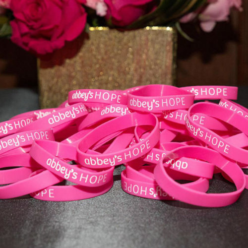 Abbey's Hope wrist bands by centerpiece 1000