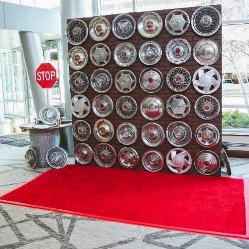 2018GeorgeLaskinBarMitzvah wheel backdrop