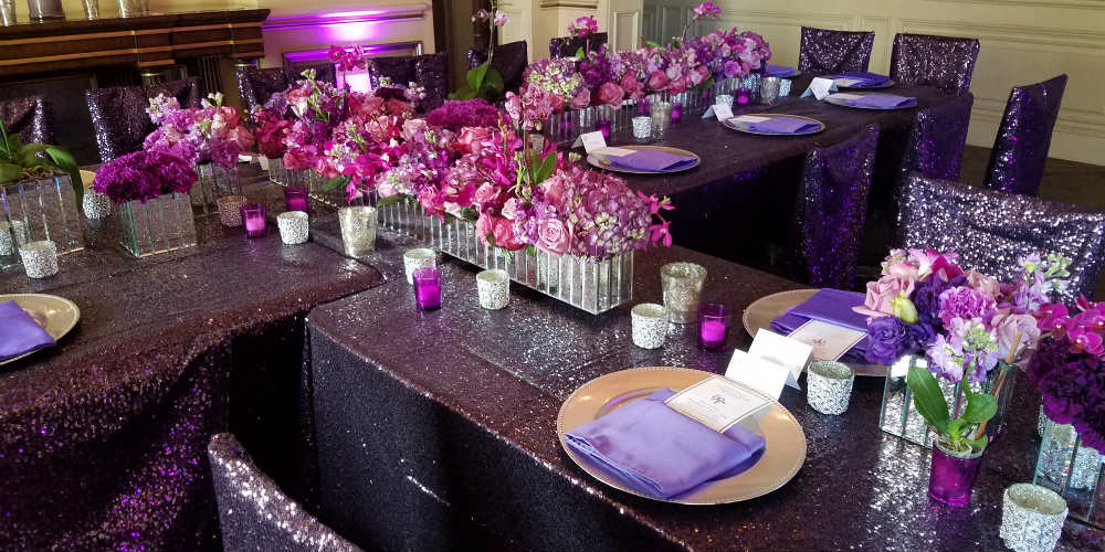 Kathy Deal Prince Prom flowers on table 1000 x 500