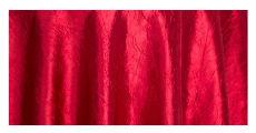 Apple red crush taffeta table linens