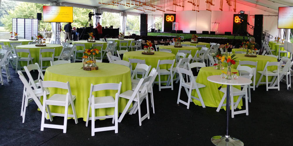 80th birthday party rental tent