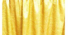 Yellow crush taffeta table linens