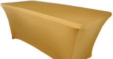 Gold table cloth rentals