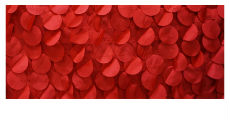 Small red petal fabric