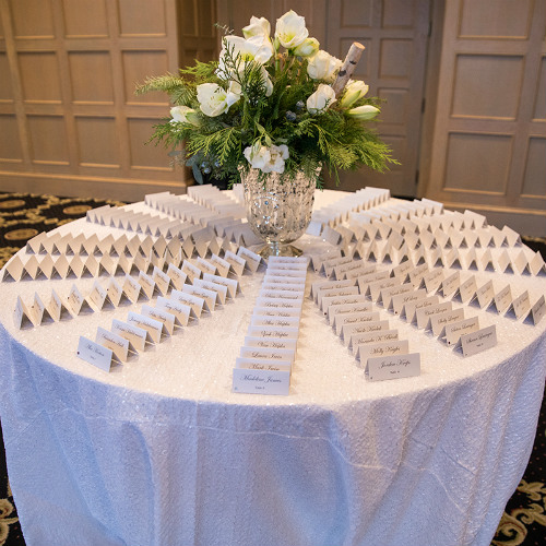Allie Chris Palmer Placecard Table