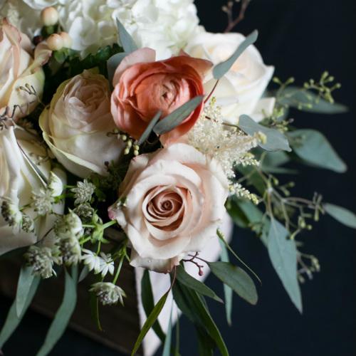 Barn Wedding floral close up