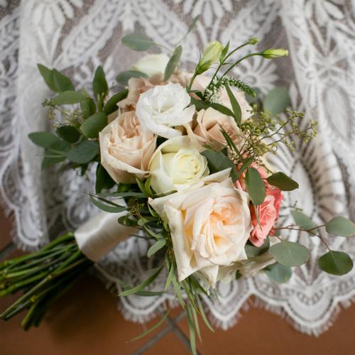 Barn Wedding bridal flowers