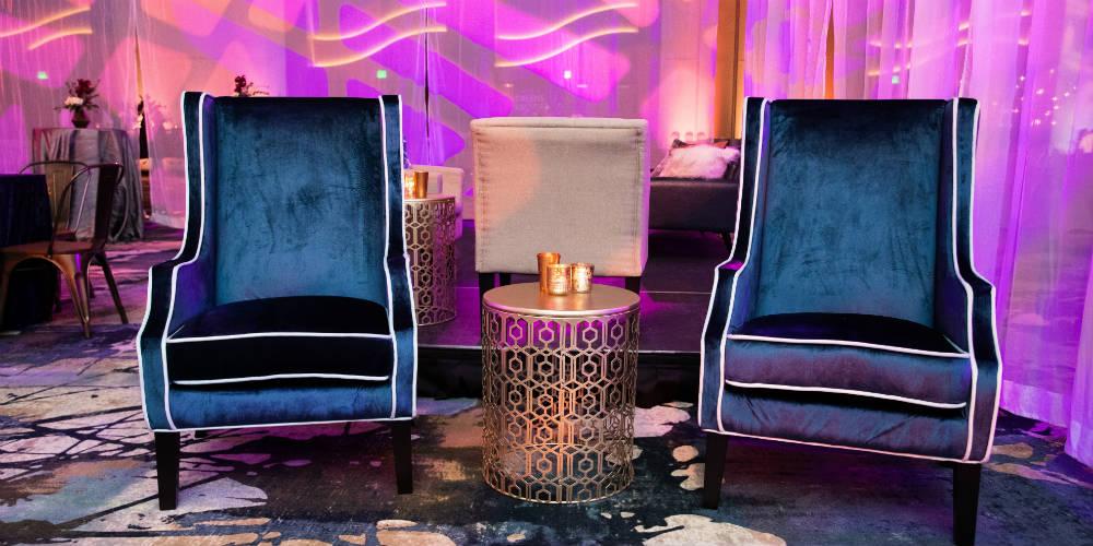 BATC Mystic Lake - Blue Velvet Chairs