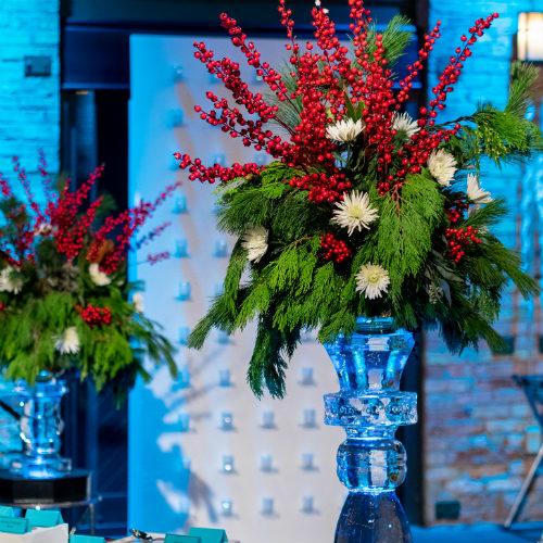 Mosaic Holiday Ice Candlesticks