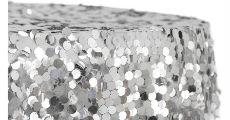 Silver Paillete Linen