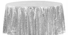 Silver Sequin Linen