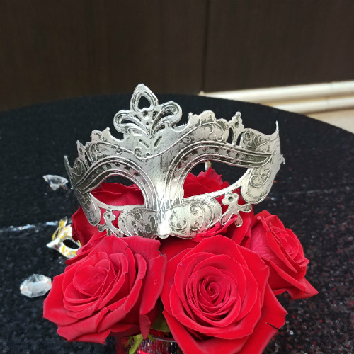 Advisornet Masquerade mask and roses