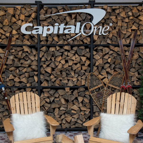 Capital One Log Wall