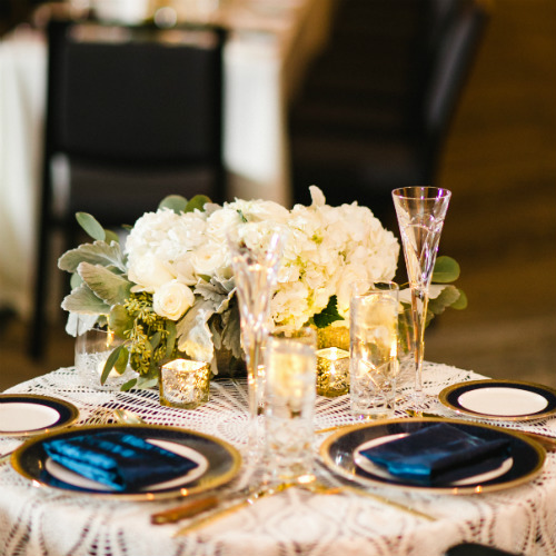Claire and Alex Flitsch placesetting