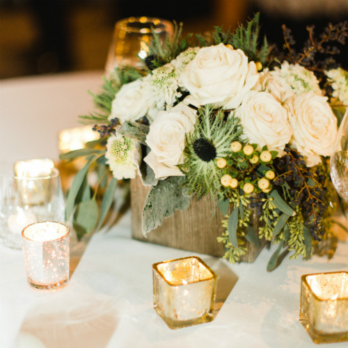 Claire and Alex Flitsch table flowers