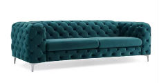 Tufted Sofa Teal