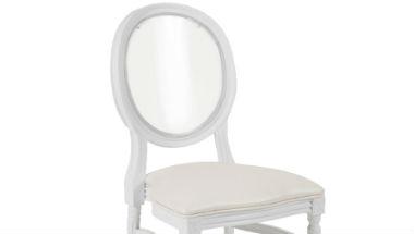 King Louis White Chair
